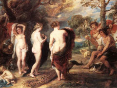 Peter Paul Rubens, The Judgement of Paris, 1636 (National Gallery, London)