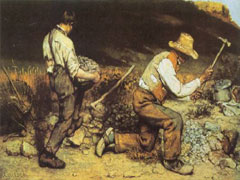 Gustave Courbet, The Stonebreakers, 1849 (destroyed in World War II)