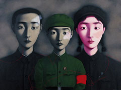 Zhang Xiaogang, Bloodline, The Big Family No3, 1995 (Private Collection)